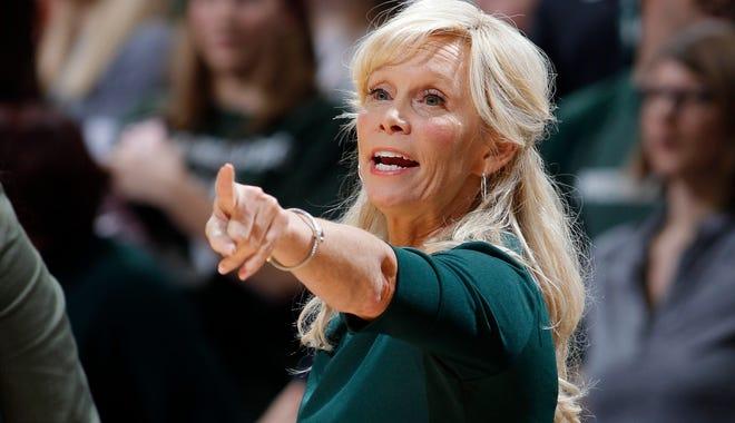 Michigan State coach Suzy Merchant