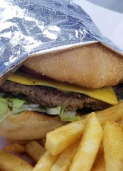 Sam's isn't all about seafood. Have a burger and fries, wings, or a Philly sandwich.