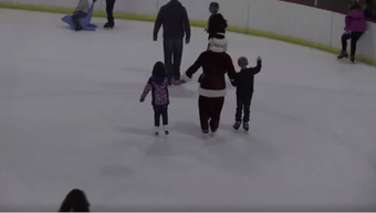 Santa hit the ice to benefit Autism Evansville.