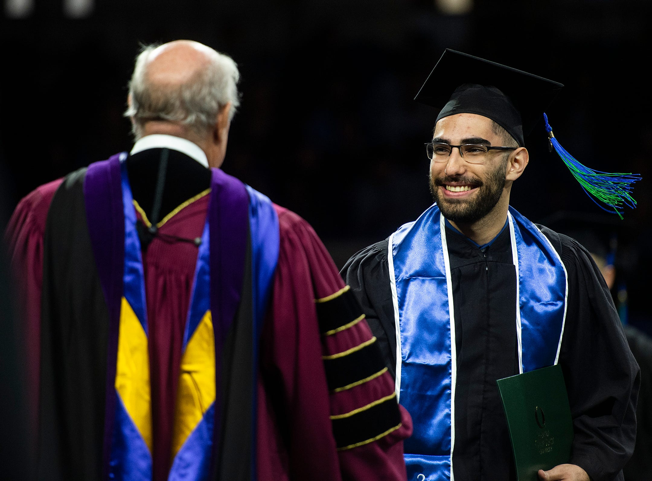 Scenes from the graduation ceremony of Florida Gulf Coast University's fall class at Alico Arena in Fort Myers, Fla., on Sunday, December 16, 2018.