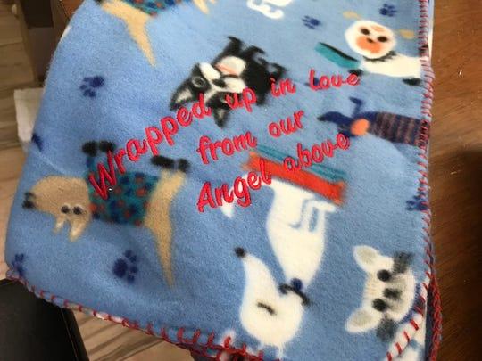 A Hug from Heaven blanket