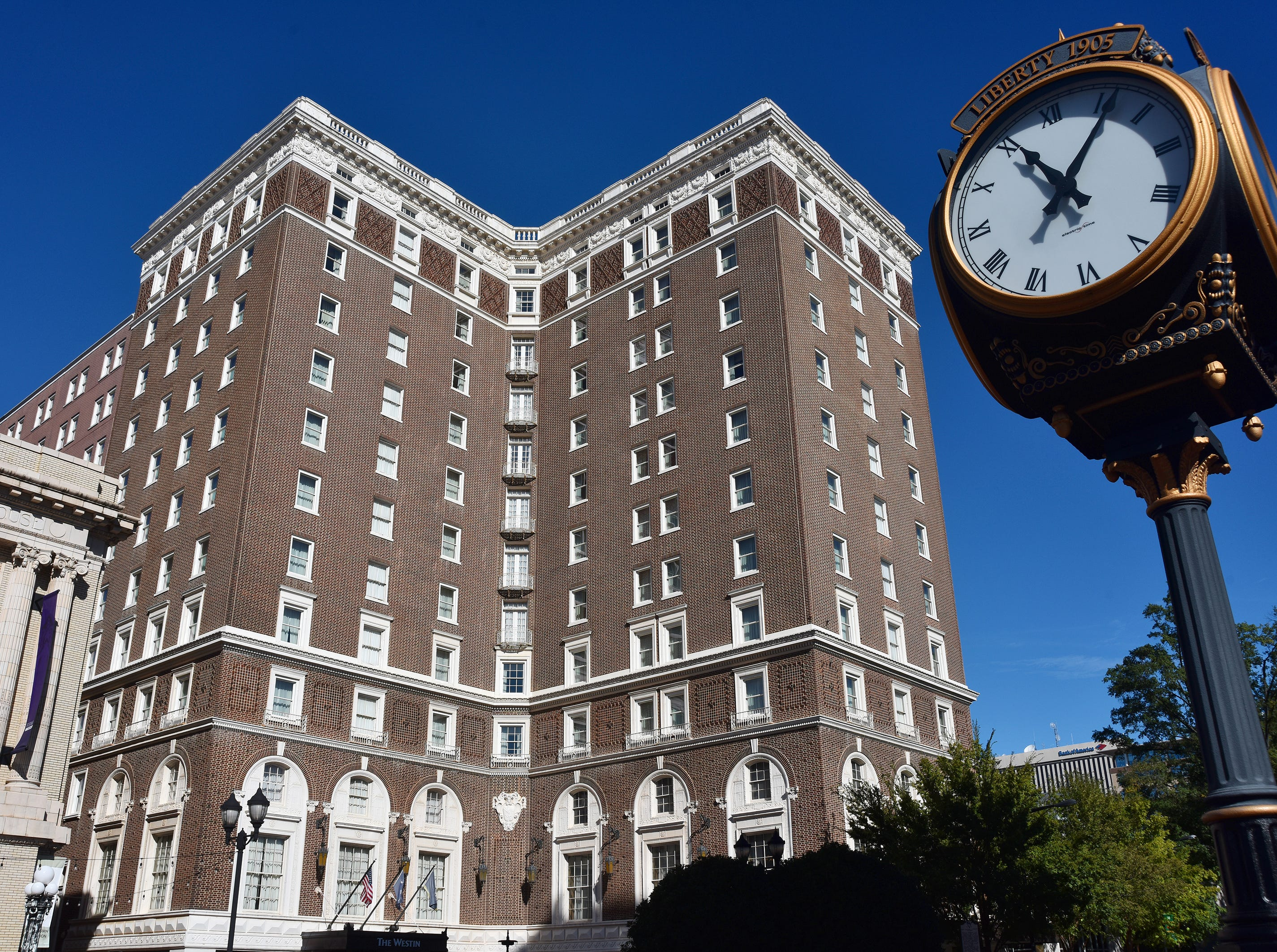 The Westin Poinsett Hotel in downtown Greenville.