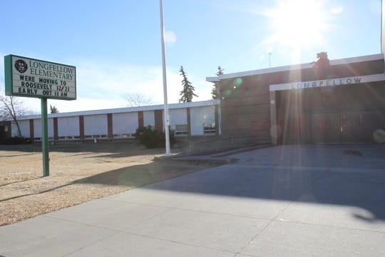 Outside Longfellow Elementary their last week in the building