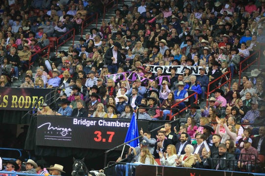 The Montana contingent of fans at the National Finals Rodeo is always loud and proud at the Las Vegas.