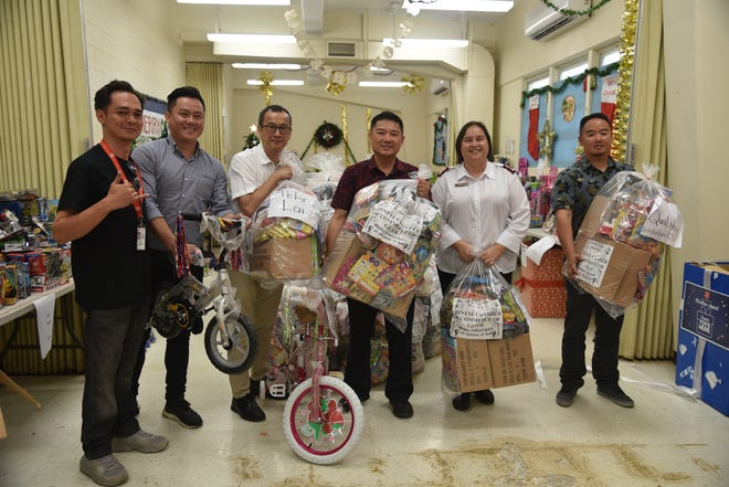 The Chinese Chamber of Commerce of Guam Board of Directors delivered toys to Salvation Army on Dec. 14 as part of the 2018 simultaneous fund drives for the children and homeless. We are so grateful for the donations of our CCCG members who supported and donated these toys to the needy children of Guam. CCCG's been doing this great cause for 11 years and looking forward to another year. Pictured from left: CJ Urquico (public relations/development coordinator), CCCG Vice President and simultaneous fund drives Chairman Jack Chan, CCCG Vice President Peter Lai, CCCG President Benson Au-Yeung, Major Kimberly Stambaugh (Guam Corps Officer, Salvation Army Guam), CCCG Board of Director Alex Au-Yeung.
