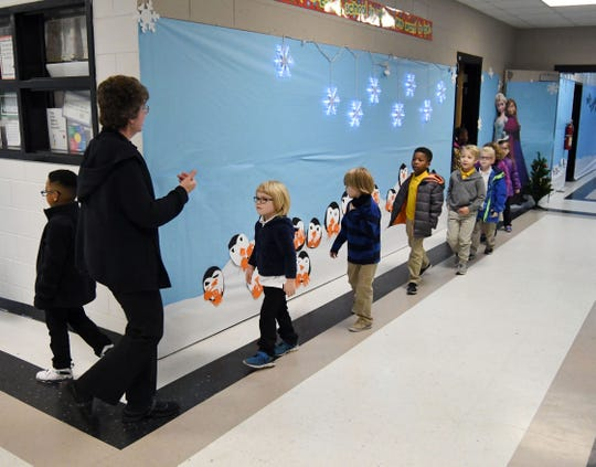 Teachers and students exit their classrooms during a fire safety drill at Dixie Attendance Center in Hattiesburg. Pine Belt school districts make safety the No. 1 priority as they practice drills to prepare for any type of emergency.