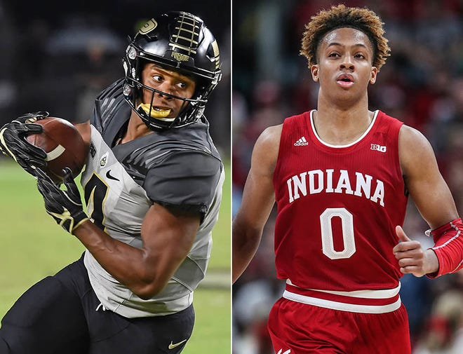 Rondale Moore (left) and Romeo Langford both hail from New Albany, Ind., and both are among their sport's top phenoms.