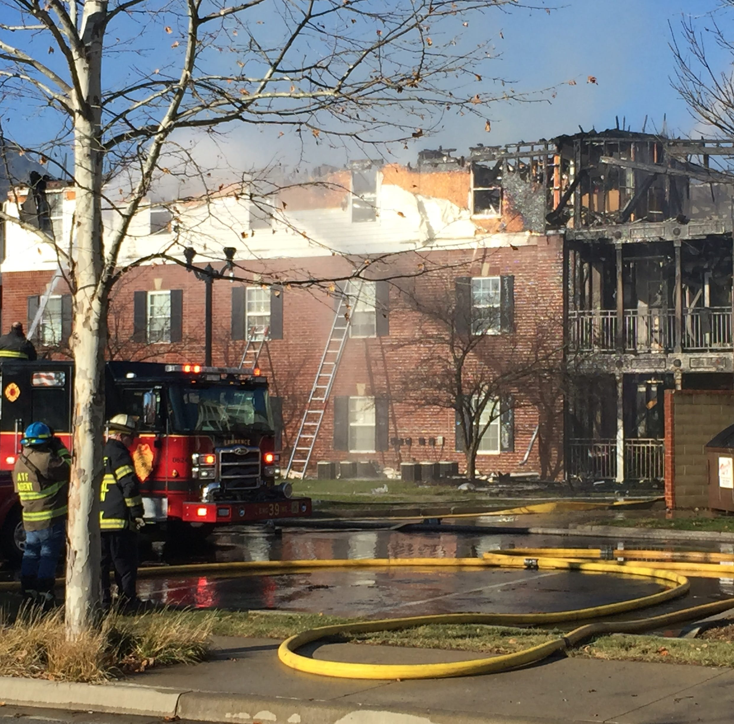 Firefighters battle three-alarm blaze at Lawrence senior living community