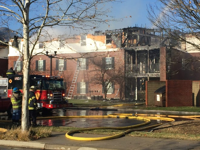 Firefighters battle a three-alarm blaze at a Lawrence senior living community. According to Lawrence police and fire officials, the fire started shortly before 1 p.m. at the Benjamin Court Apartments in the area of Lee Road and 59th Street. Both Lawrence and Indianapolis firefighters are responding.