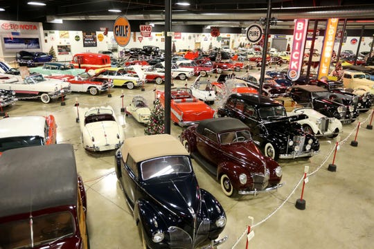Cars sit on display at the Tupelo Automobile Museum is this December 2018 photo.