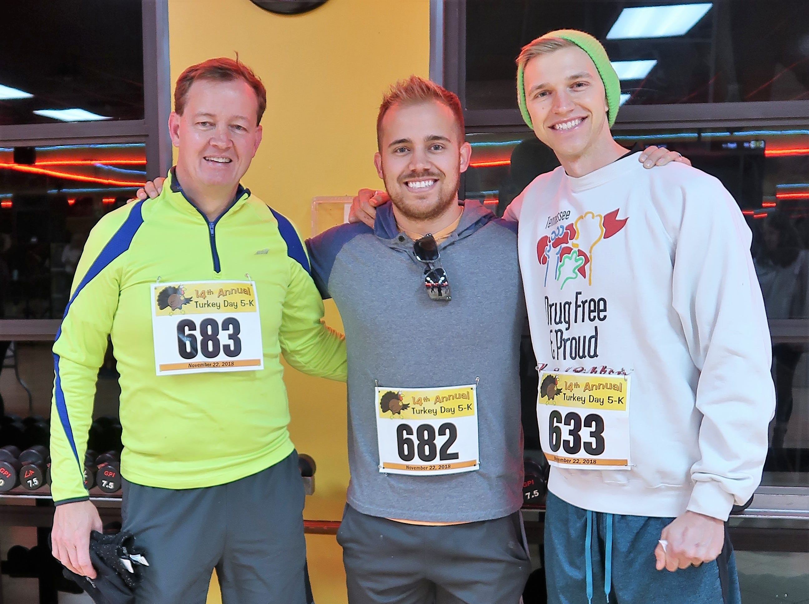 GoldÕs Gym held the 14th annual Turkey Day 5K to benefit RIFA on Thursday, November 22, 2018.  Over 1,000 runners were expected to participate in the event.  The race began and ended at GoldÕs Gym.