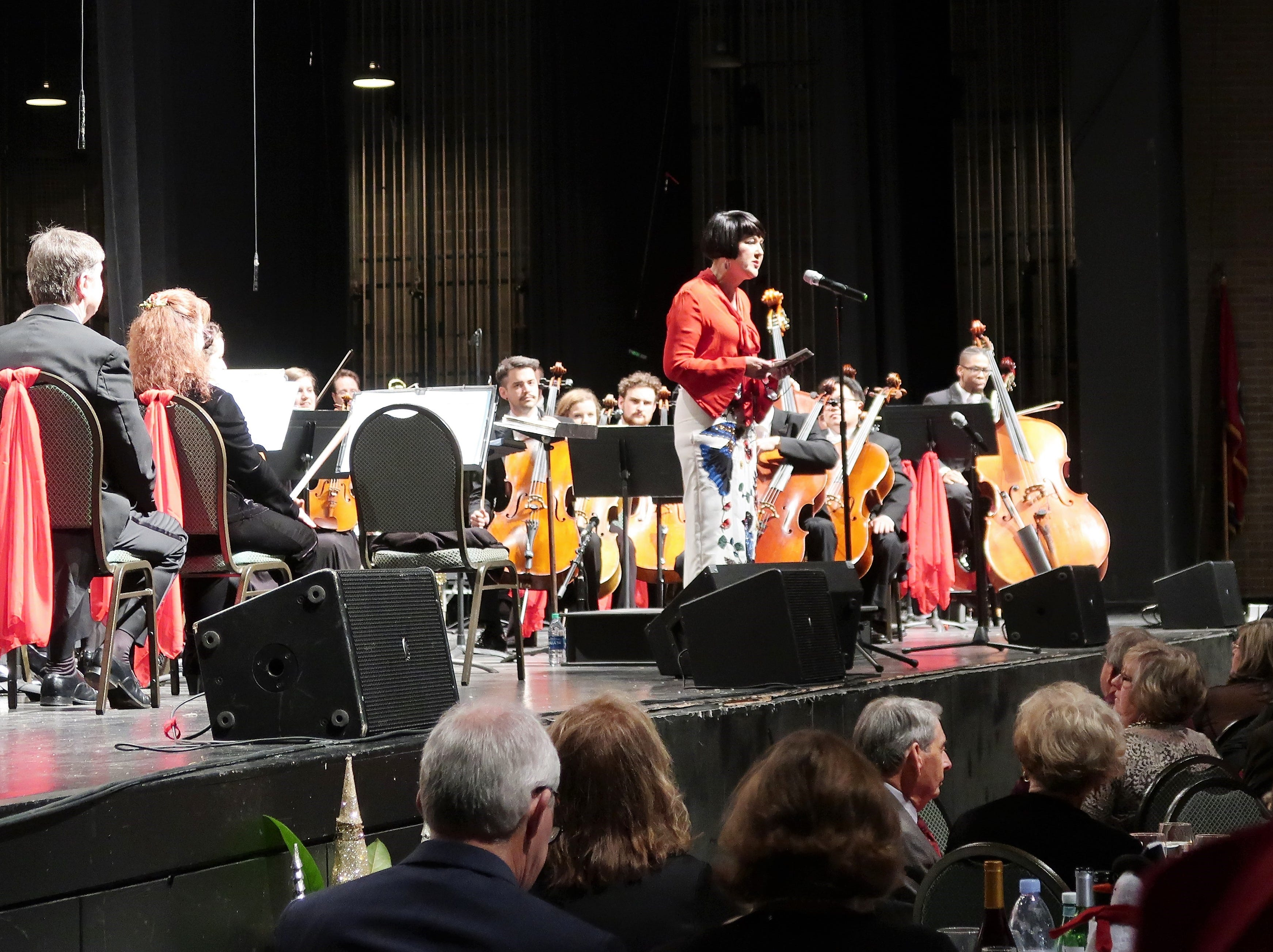 The Jackson Symphony presented the annual Holiday Pops Concert on Saturday, December 1, 2018 at the Carl Perkins Civic Center in downtown Jackson.  The Pops featured many of the sounds of the holiday season for the whole family.  The concert included guest soprano soloist, Stacey Stofferahan and members of the Jackson Choral Society.  The family friendly event featured selections from favorites such as the Polar Express, The Nutcracker, and A Charlie Brown Christmas as well as sing-a-long carols and a visit from old Saint Nick.