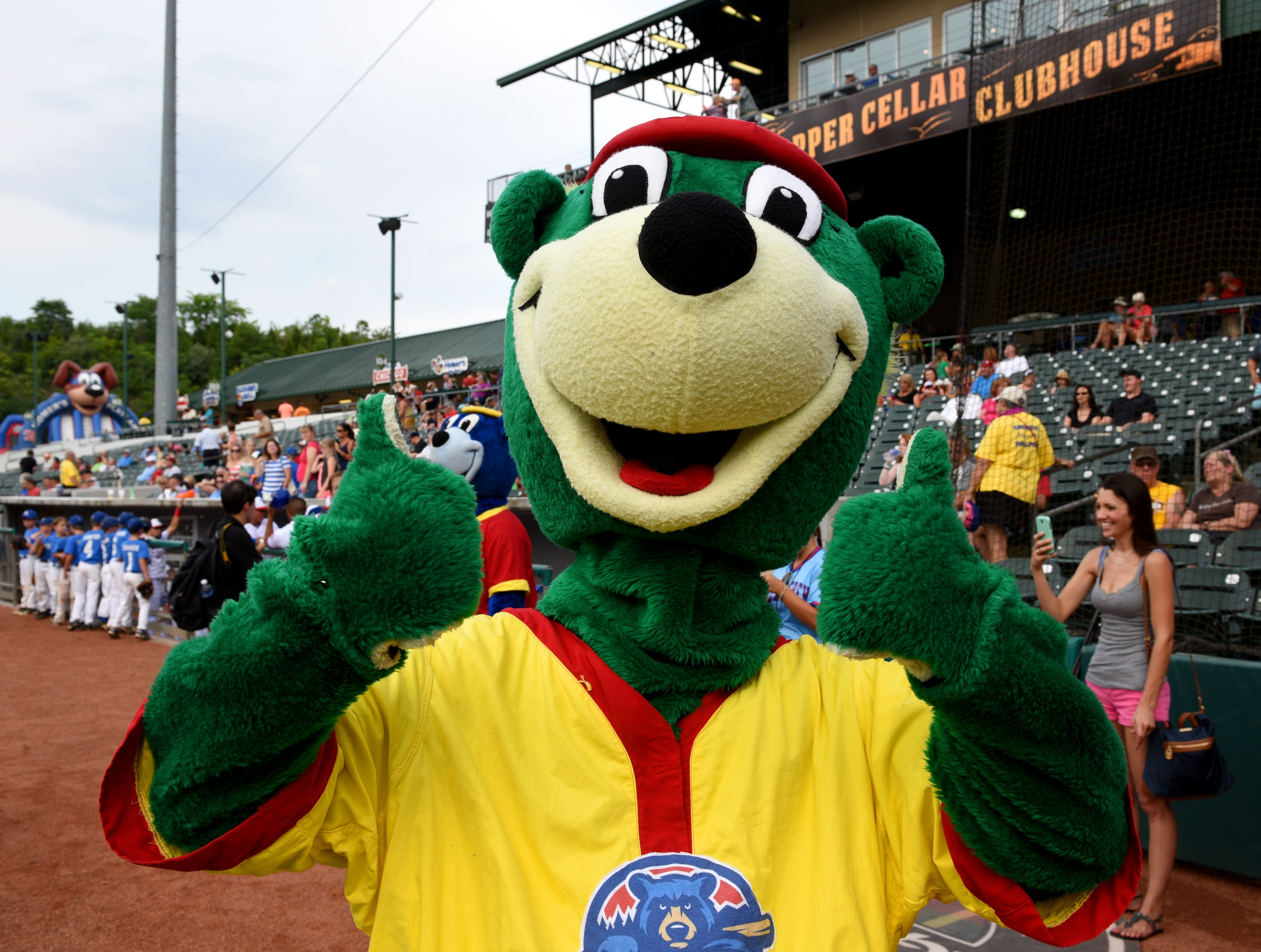 Tennessee Smokies baseball game against the Mississippi Braves televised by CBS Sports Network Thursday, Jun. 18, 2015. Helen Turner, co-founder of the Love Kitchen throwing out the first pitch and money raised at the game goes to the Love Kitchen.
