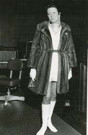 Hazel Davidson is pictured during a court appearance in 1970.