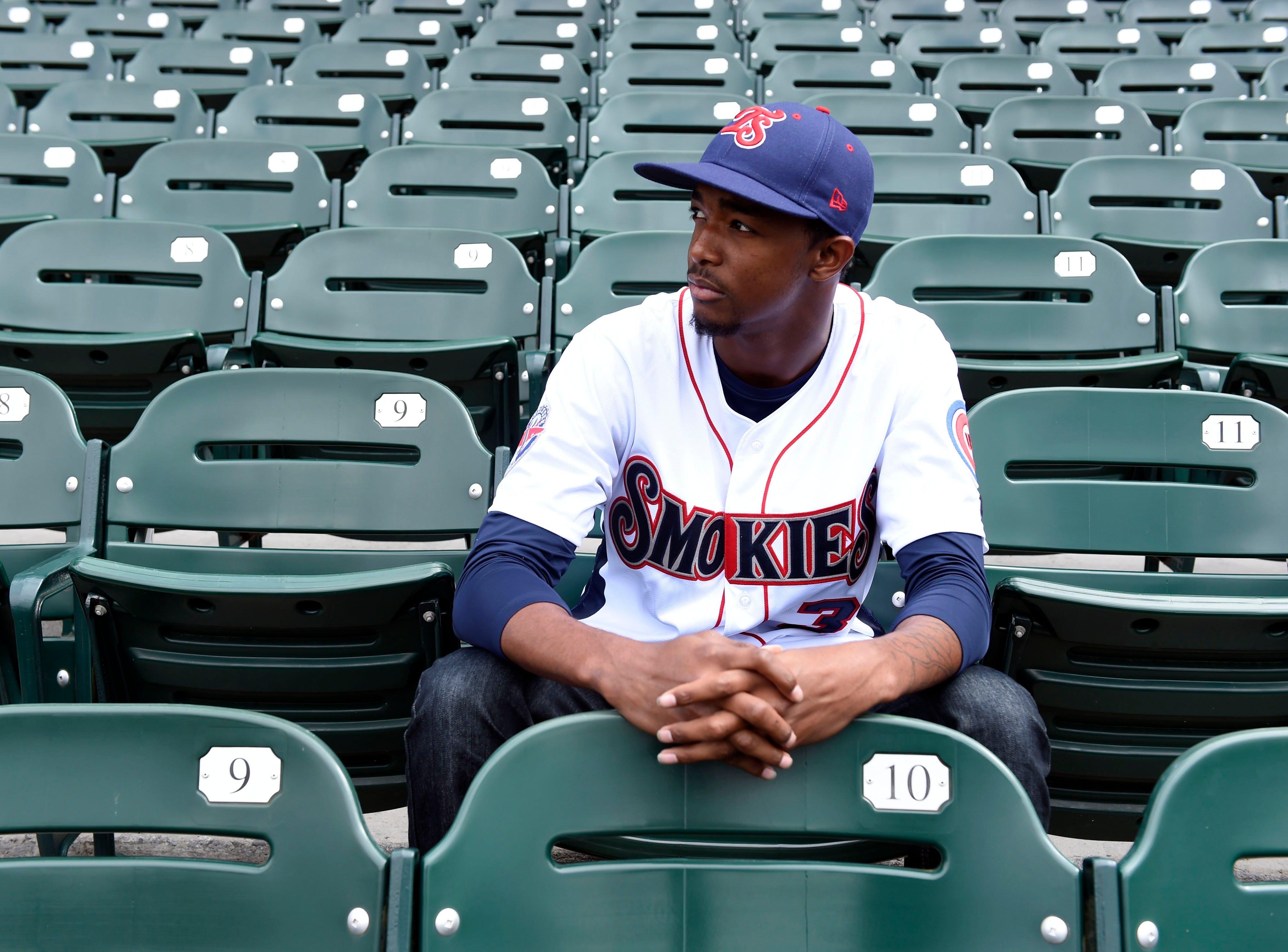 Smokies pitcher  C.J. Edwards at Smokies Park on Tuesday, April 8, 2014.