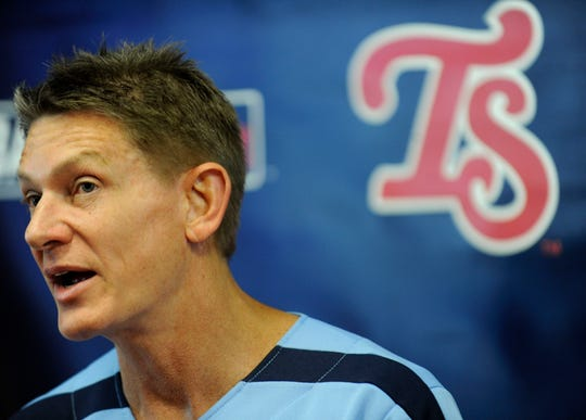 Randy Boyd, was announced as the new owner of the minor league Tennessee Smokies baseball team along with his wife Jenny, during a press conference at the Kodak ball park, Friday, June 28, 2013.
