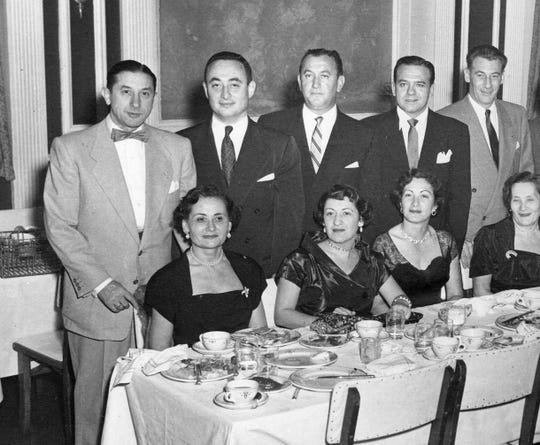 Harry and Rose Busch, both at left, are pictured at a social function in an undated photo.