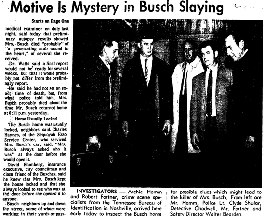 News Sentinel story from Nov. 20, 1968 on the murder of Rose Busch.