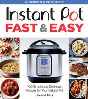 "The cover of ""Instant Pot Fast & Easy"" by Urvashi Pitre"