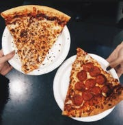 Davinci's Pizzeria & Calzones in the Old City offers cheese and pepperoni pizza by the slice.