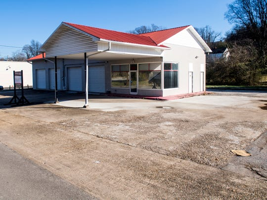 A former garage at 1014 Sevier Ave. is the future home of a food truck park.