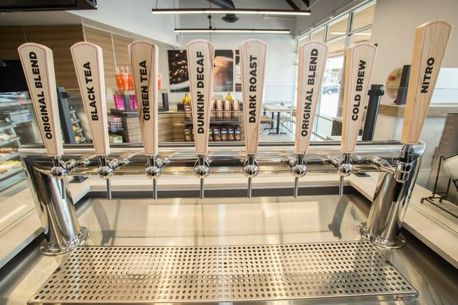 Dunkin Donuts' tap system will be available for customers to try during the Wednesday grand opening at 5 a.m.
