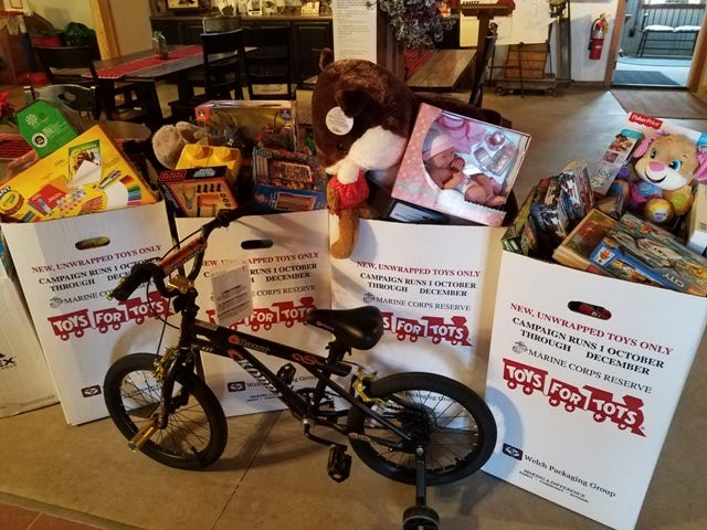 Toys for Tots is one way to give back, while receiving much in return.