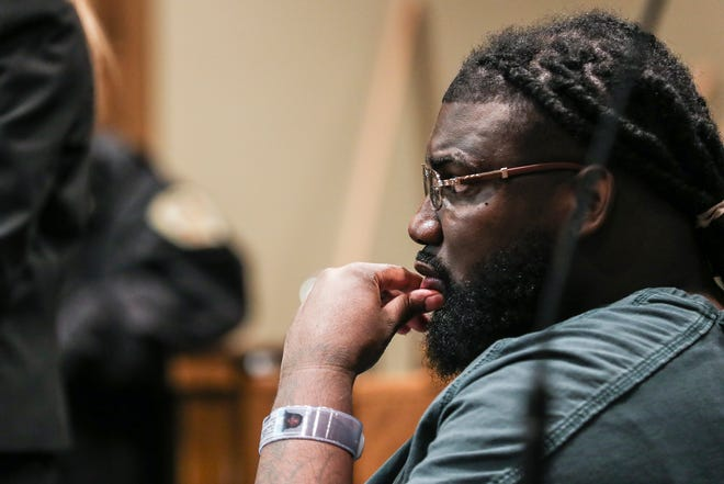 Tremaine Wilbourn in Judge Lee Coffee's courtroom on Dec. 17. Wilbourn was sentenced to an additional 38 years in prison for gun charges and a carjacking related to the murder of Memphis police officer Sean Bolton.