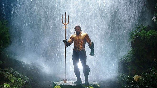 Aquaman, Aquaman, does whatever a flounder can: Jason Momoa is the undersea hero.