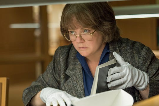 "Comic actress Melissa McCarthy played it straight as a misanthropic writer turned criminal forger in ""Can You Ever Forgive Me?"""