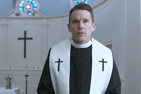"""Taxi Driver"" writer Paul Schrader delivered another memorable troubled  character in the person of a Protestant minister played by Ethan Hawke in ""First Reformed."""