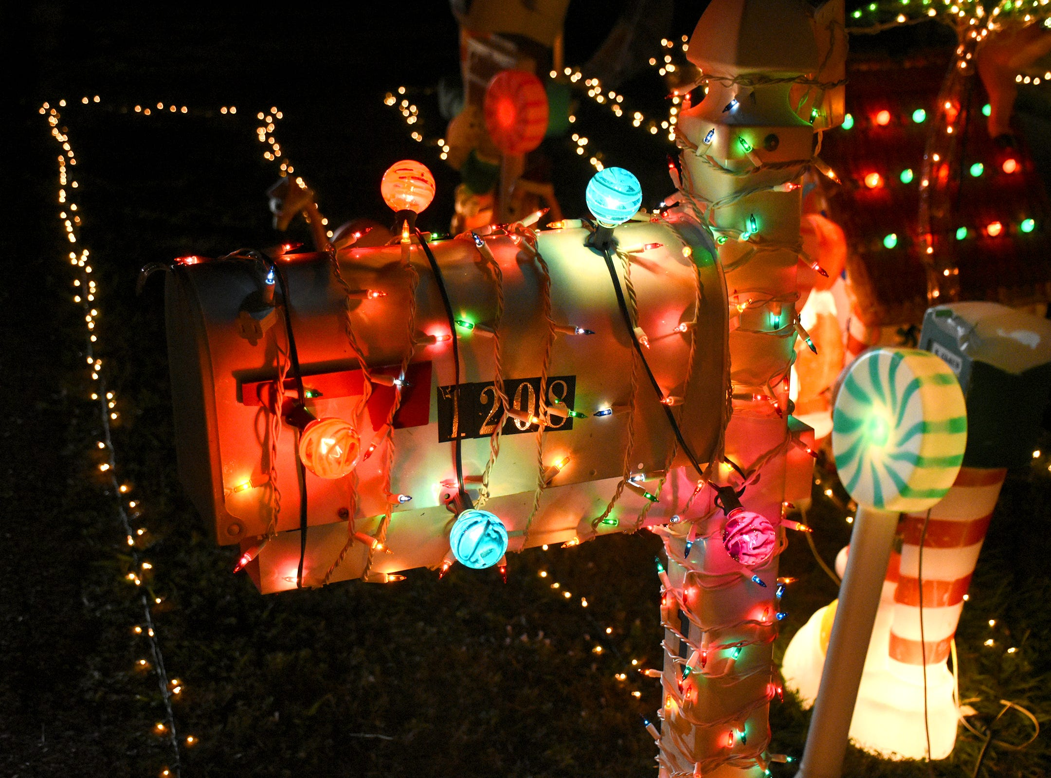 And that's just the mailbox at this entry during the judging of the annual Christmas Home Decorating Contest on Friday night.