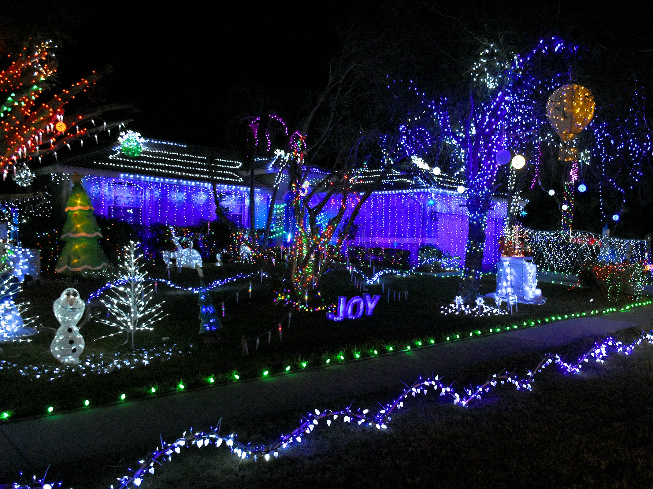The top finishier, the Szczepanski house at 513 Nassau Road. The winners of the annual Christmas Home Decorating Contest were honored Friday night.