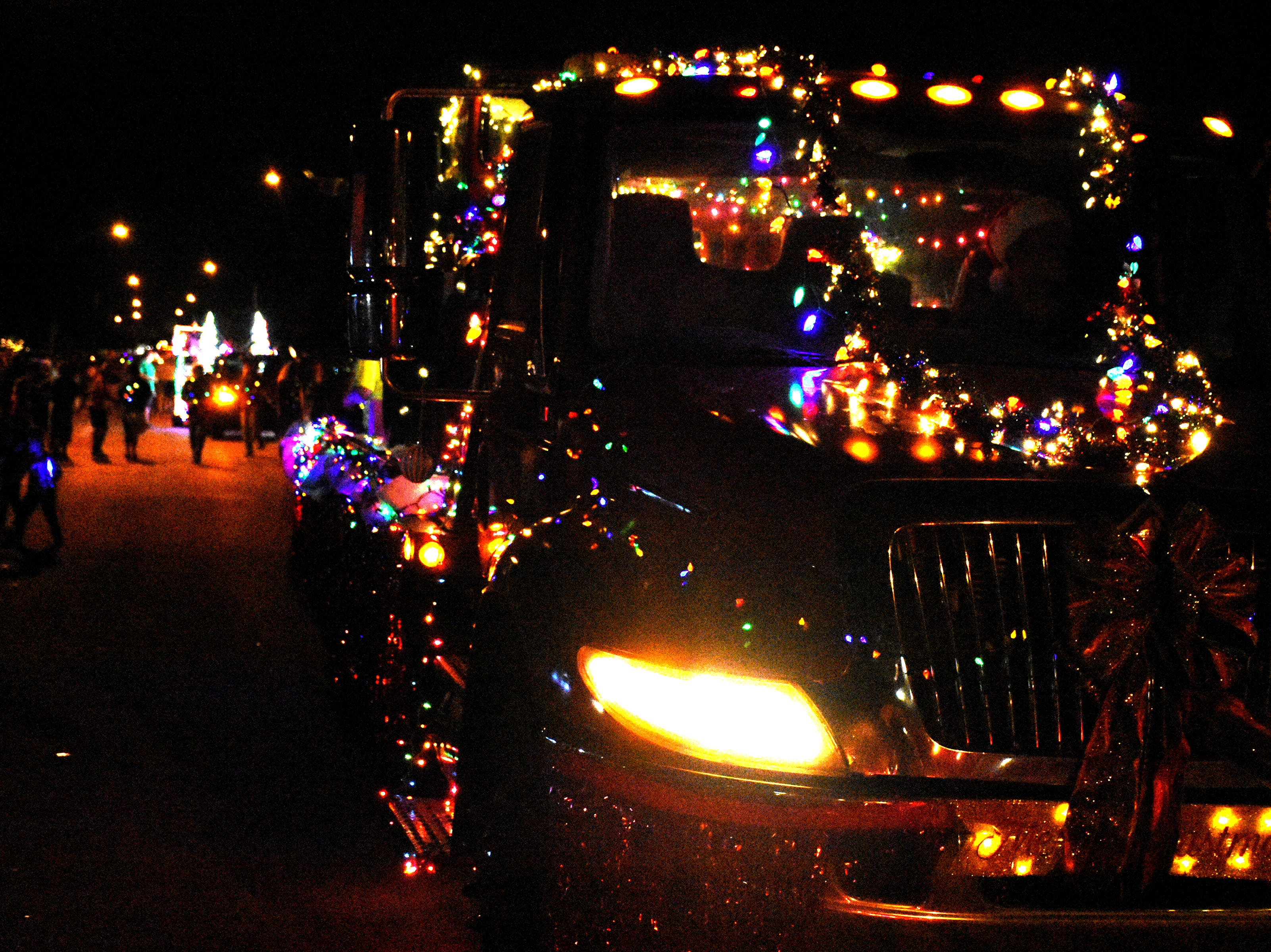 Marco's Christmas Island Style street parade marched down San Marco Road on Saturday night delighting crowds of spectators.