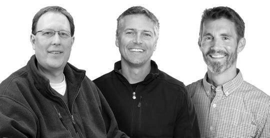Brian Wiegand (from left), Craig Andler and Mark McGuire are the founders of Madison-based Gravy Live Inc.