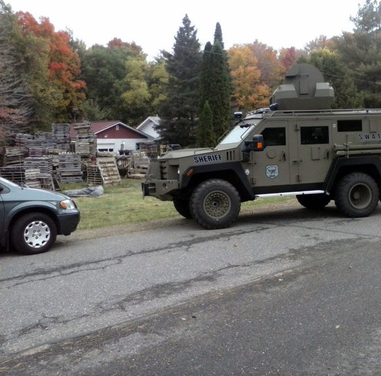 Wisconsin county pays $90,000 to settle claim over arrest executed with surplus armored military vehicle