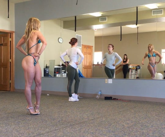 Lindsay Guerra (left), recently won a national bodybuilding competition in St. Louis.