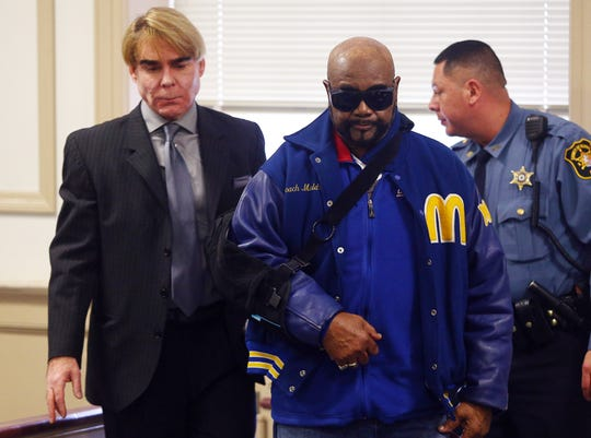 Defense attorney Matthew Reisig with Hudy Muldrow, Paramus school bus driver, at a status conference before Superior Court Judge Stephen Taylor. Muldrow was charged with two counts of vehicular homicide for allegedly driving recklessly and causing the deaths of school bus passengers 10-year-old Miranda Vargas and Jennifer Williamson-Kennedy, a social studies teacher from East Brook Middle School in Paramus. December 17, 2018, Morristown, NJ
