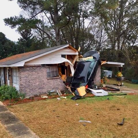 Driver of car that went airborne before slamming into home on Perry Hill faces no charges