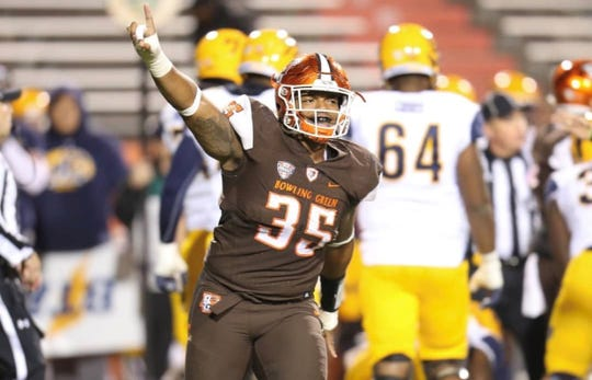 Carver alum and Bowling Green defensive lineman DeMontae Haigler.