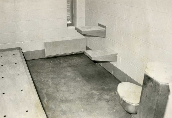 A jail cell during construction of the Delaware County Justice Center in the late 1980s/early 1990s.