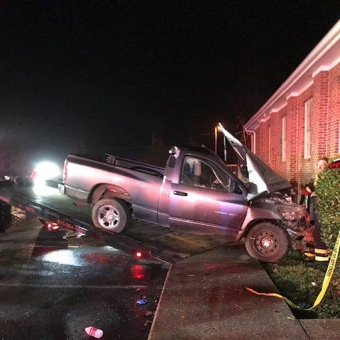 Driver injured after truck crashes into Rutherford County church