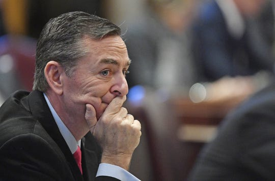 Rep. Glen Casada, R-Franklin, listens during the first day of the 2018 Tennessee General Assembly on Jan. 9, 2018.