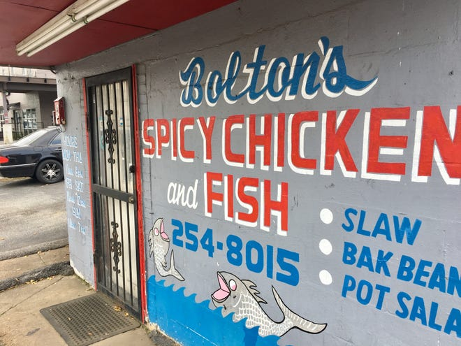 The original locaiton of Bolton's Spicy Chicken and Fish in East Nashville