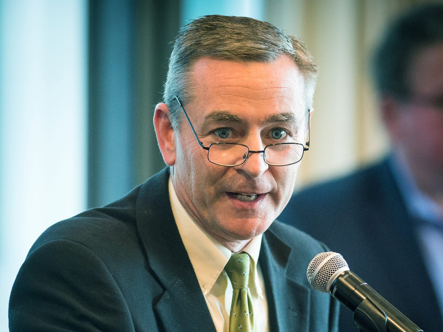 Rep. Glen Casada, R-Franklin, speaks before the House Republican Caucus vote on leadership positions at the Nashville City Club on Nov. 17, 2016.