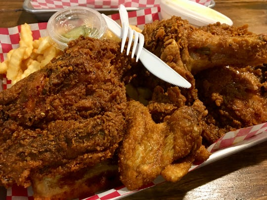 Half chicken at Slow Burn in Madison, Tenn.