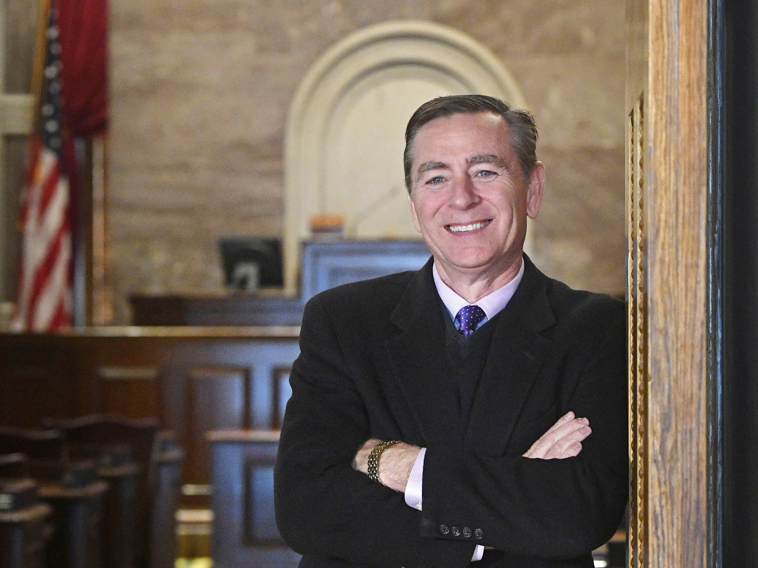 Rep. Glen Casada, posing at the door of the House chamber Nov. 28, 2018, may soon be the next House speaker.