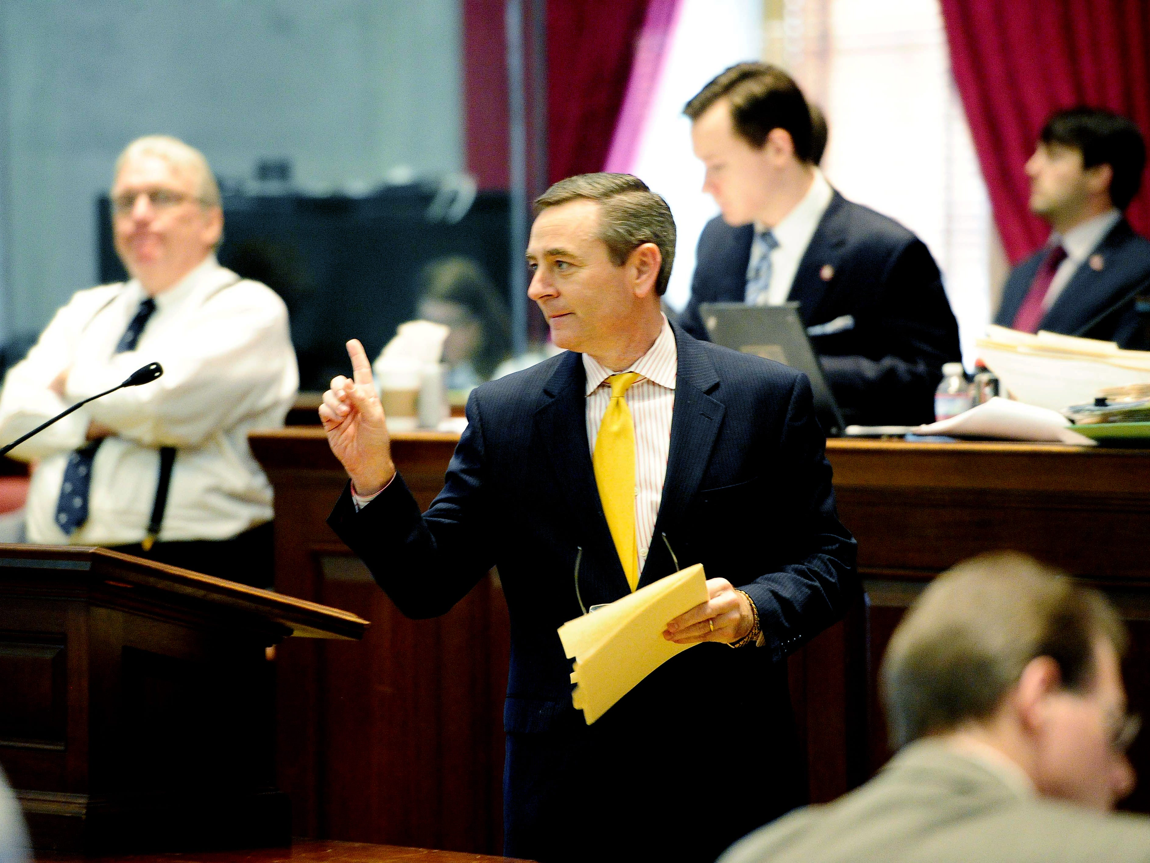 State Rep. Glen Casada, R-Franklin, speaks on the last day of the legislature's session May 1, 2012.