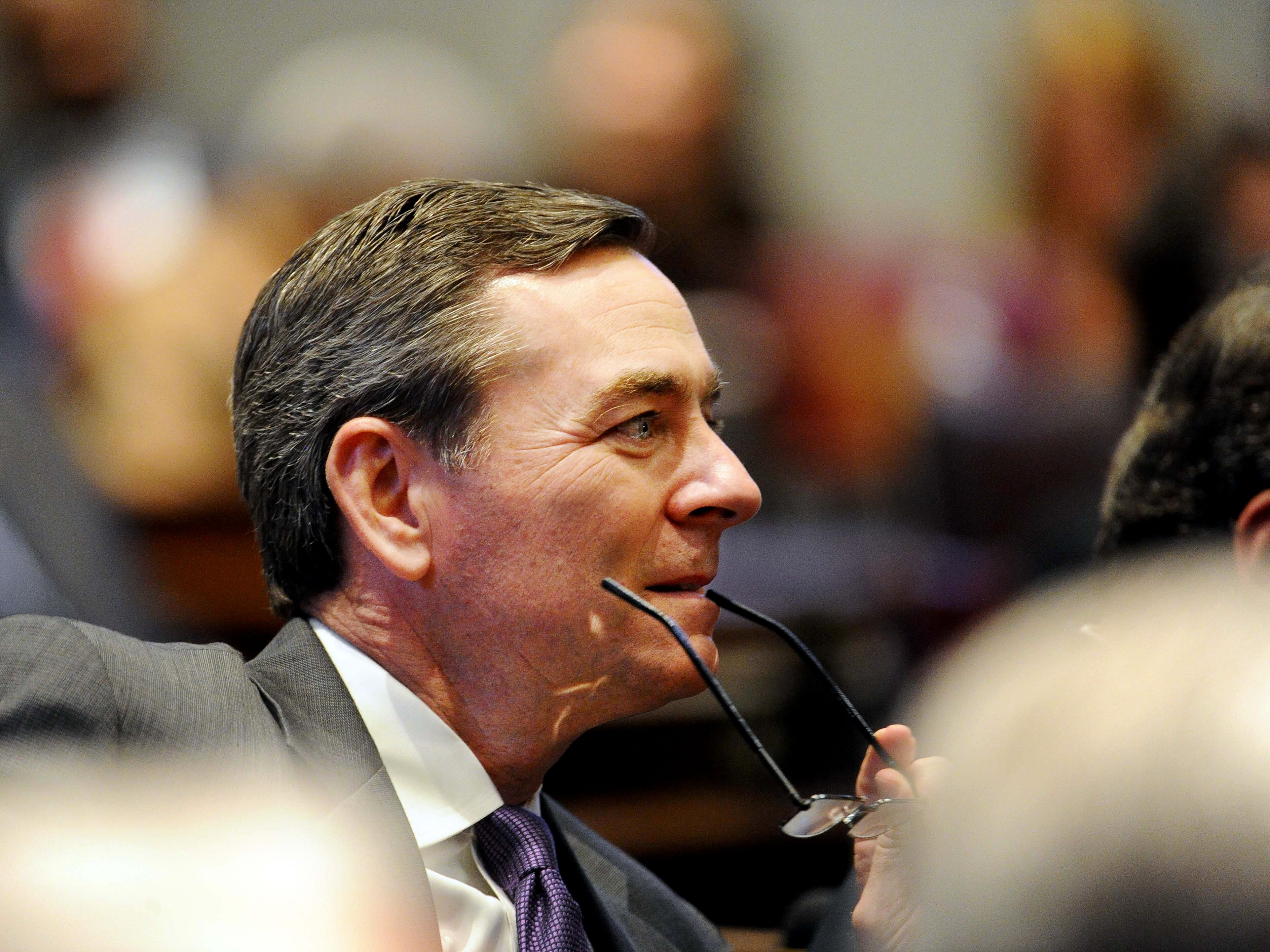 State Rep. Glen Casada listens as Gov. Bill Haslam delivers his annual State of the State address to the state legislature and the people of Tennessee at the state Capitol on Jan. 28, 2013.