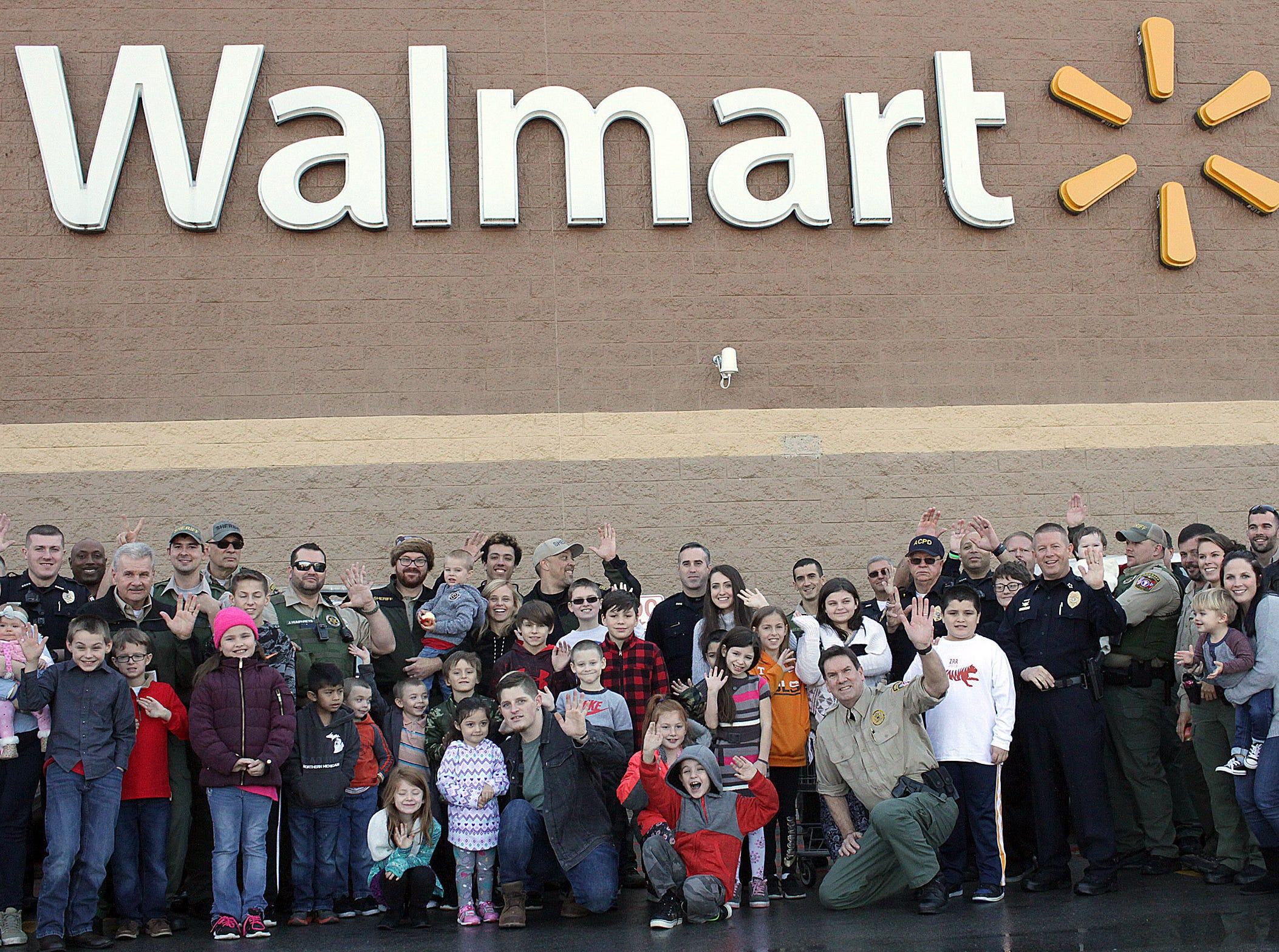 Cops and kids gather at the Ashland City Walmart for Shop With A Cop on Saturday, December 15, 2018.